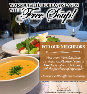 Free Soup Offer Creed's